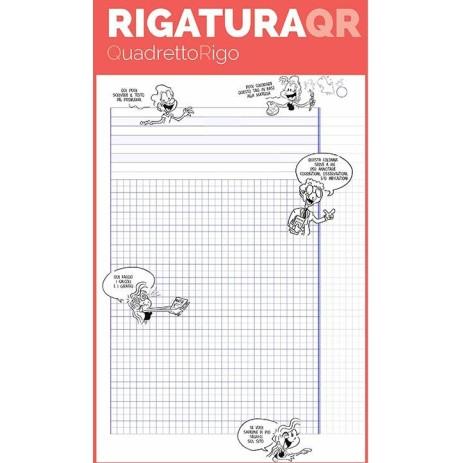 Quadernone Monocromo Q.I. Rigatura QR QuadrettoRigo