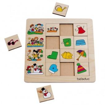Beleduc Puzzle a cubi Stagioni