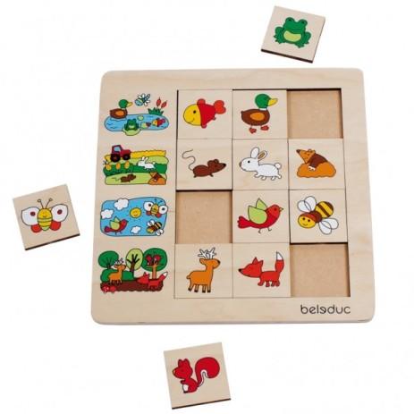Beleduc Puzzle a cubi Ambienti