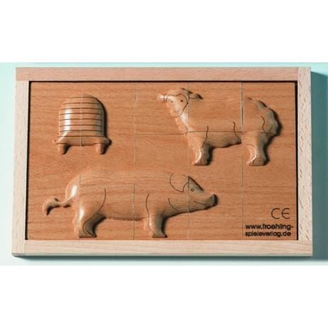 Beleduc Puzzle in rilievo Maiale pecora