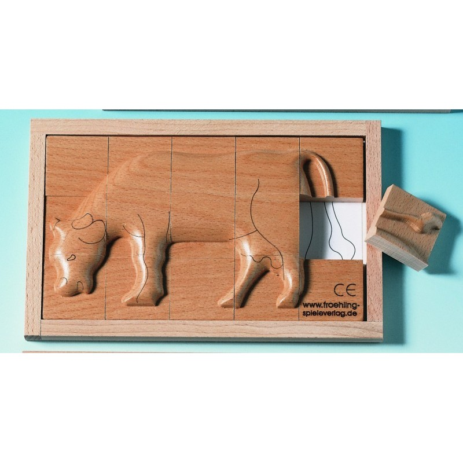 Beleduc Puzzle in rilievo Mucca