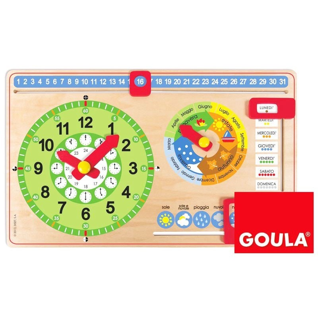 Calendario Legno Bambini.Calendario Perpetuo In Legno Per Bambini