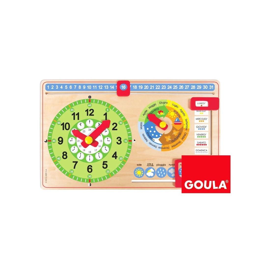 Connu calendario perpetuo in legno per bambini LH42