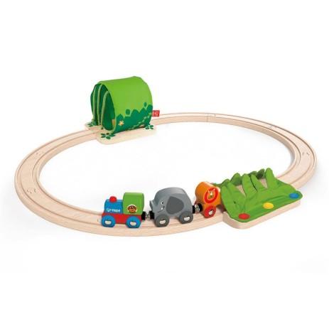 Hape E3800 Set pista treno giungla