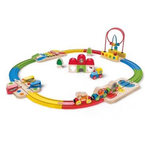 Hape E3816 Set ferrovia e stazione arcobaleno