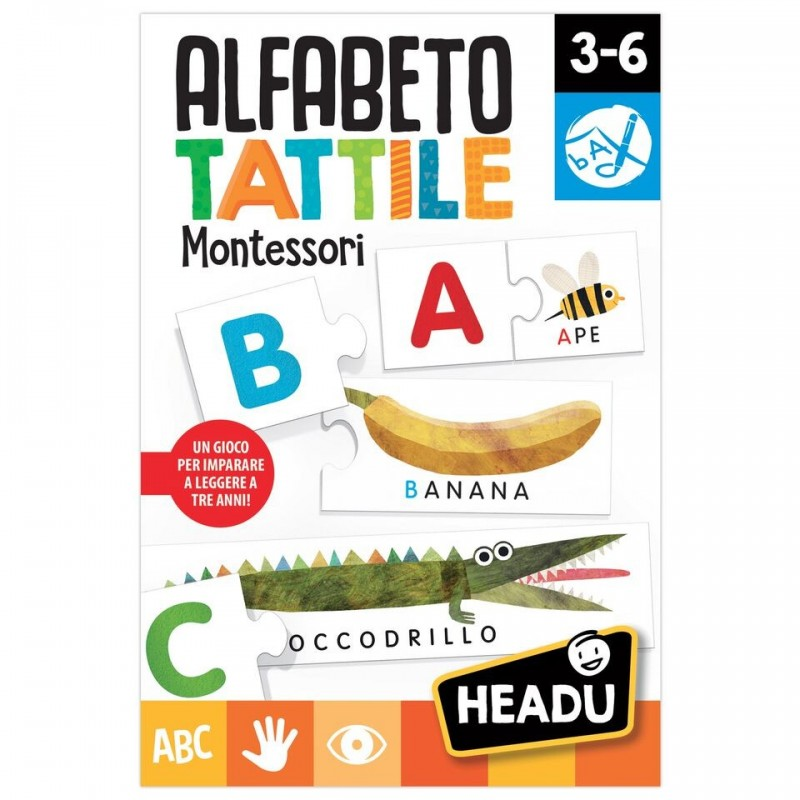Headu 20164 Alfabeto tattile Montessori