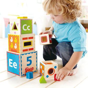 blocchi di legno per il gioco dei bambini hape 3