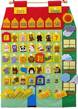 Calendario Per Bambini Fai Da Te.Calendario Stoffa Per Bambini Orso Azzurro Blog