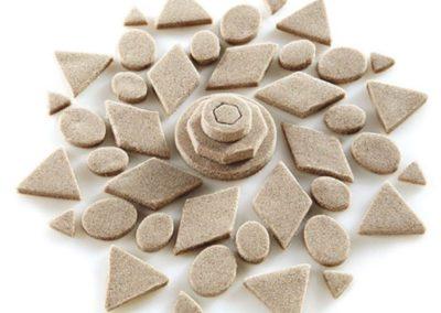 gioco della sabbia con le formine
