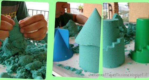 giochi con la sabbia, shape it, autismo, orso azzurro store