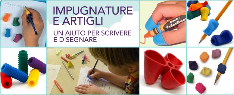 Nuovi prodotti su Orso Azzurro, impugnature e artigli per scrivere e disegnare