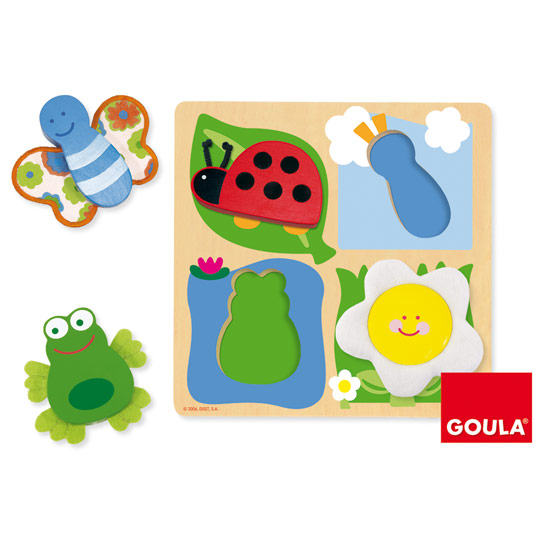 puzzle campagna con elementi in stoffa